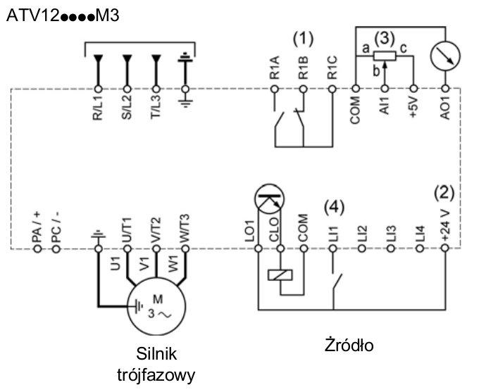 schemat połączeń - ATV12
