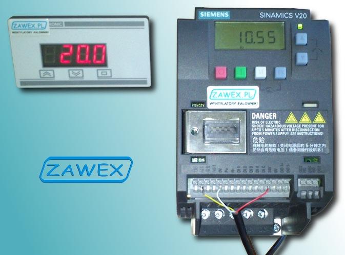 Falownik Siemens V20 i samoprzylepny zadajnik tablicowy ZAD-V