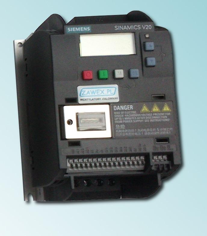Falowniki Siemens V20 - makro konfiguracyjne Cn006