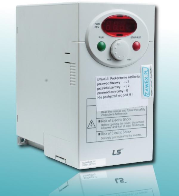 Falownik LG iC5 - wyświetlanie obrotów silnika, zamiast częstotliwości