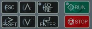 Falowniki Yaskawa J1000 - przyciski