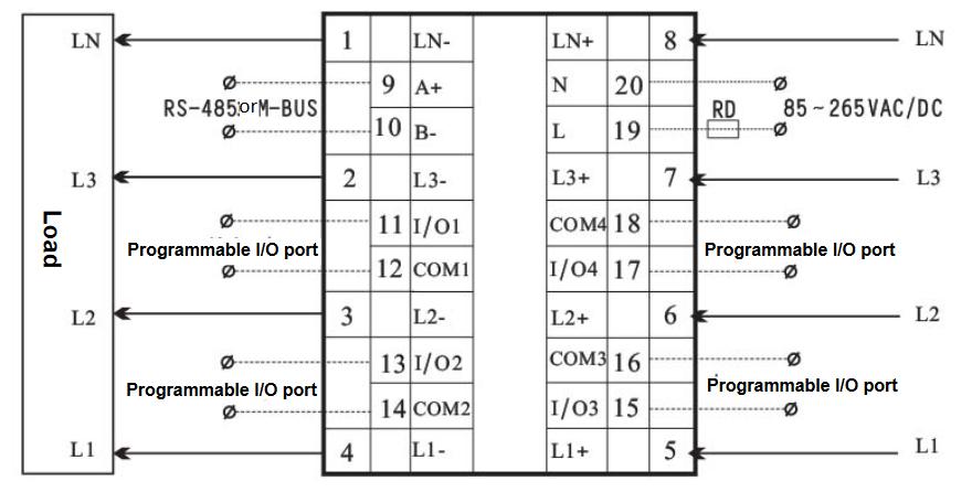 ARZ-5D - schemat podłączenia