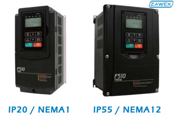 Falowniki TECO F510 w obudowei IP20 oraz IP55