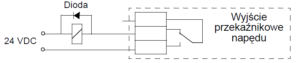 Zabezpieczenie wyjścia przekaźnikowego dioda DC