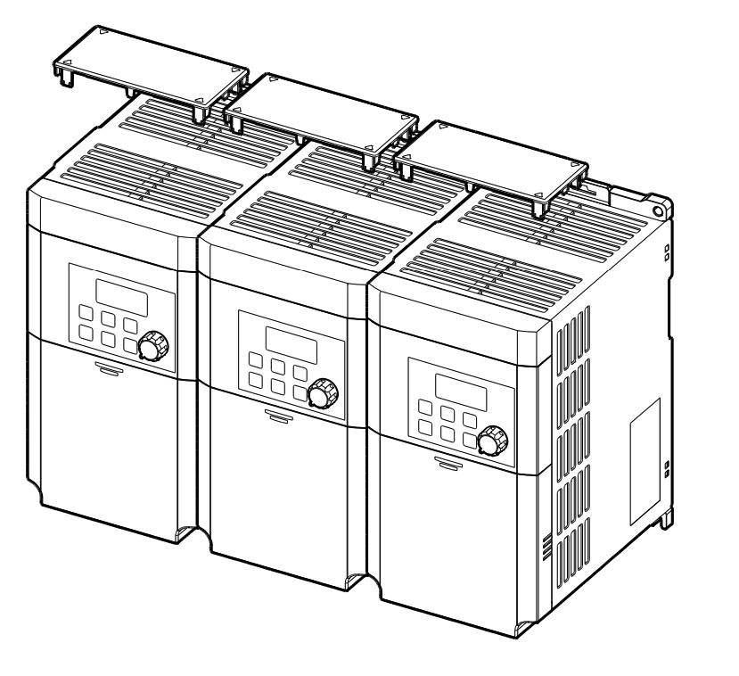 Montaż falowników LG M100 jeden przy drugim